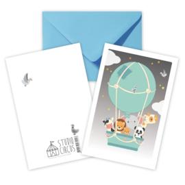 A6 Heißluftballon mit Umschlag
