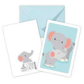 A6 Elefant mit Umschlag