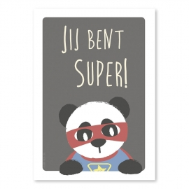 A4 Super Panda 'jij bent super'