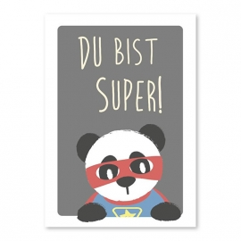 A6 Super Panda 'du bist super'
