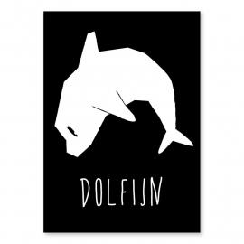 A6 Dolfijn zwart/wit