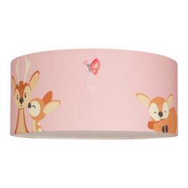 Plafondlamp Hertjes Roze