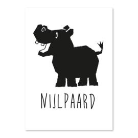 A6 Nijlpaard zwart/wit
