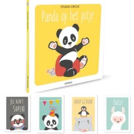 Panda op het potje plus kaarten