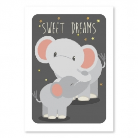 A6 Elephants 'sweet dreams'