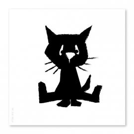 21x21 Kätzchen schwarz-weiß