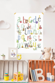 ABC poster van Appel tot Zebra 50x70cm