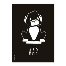 A6 Aap zwart/wit