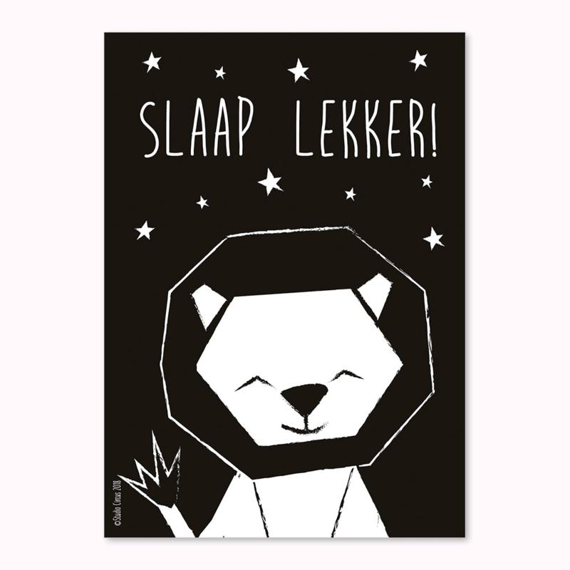 A4 Leeuw Slaap lekker!