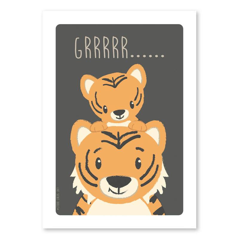 A4 Tiger Familie 'Grrrrr......'
