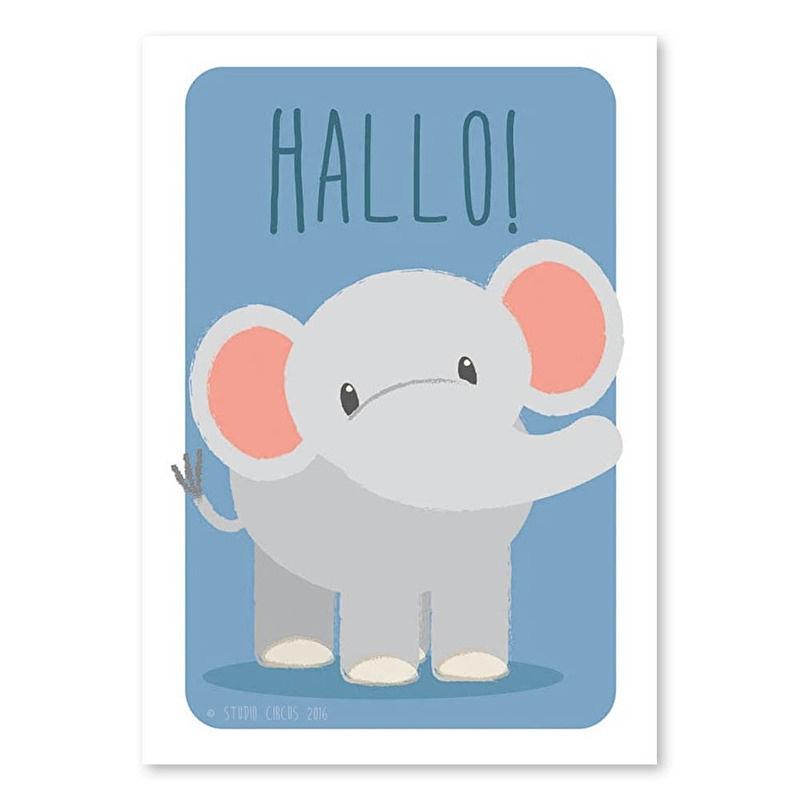 A6 Elefant 'hallo'