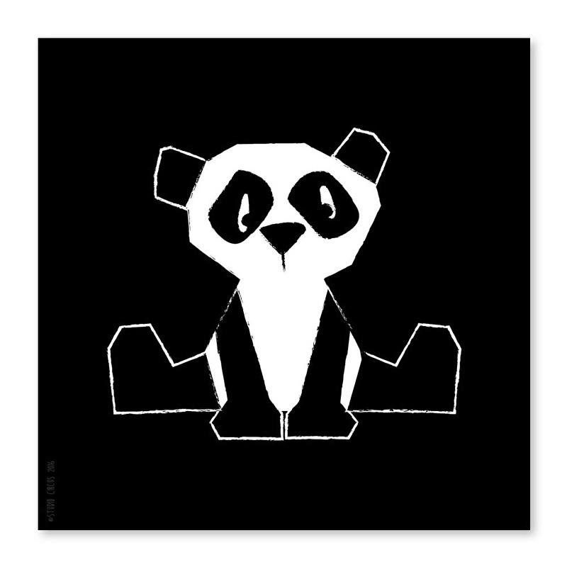21x21 Panda schwarz-weiß