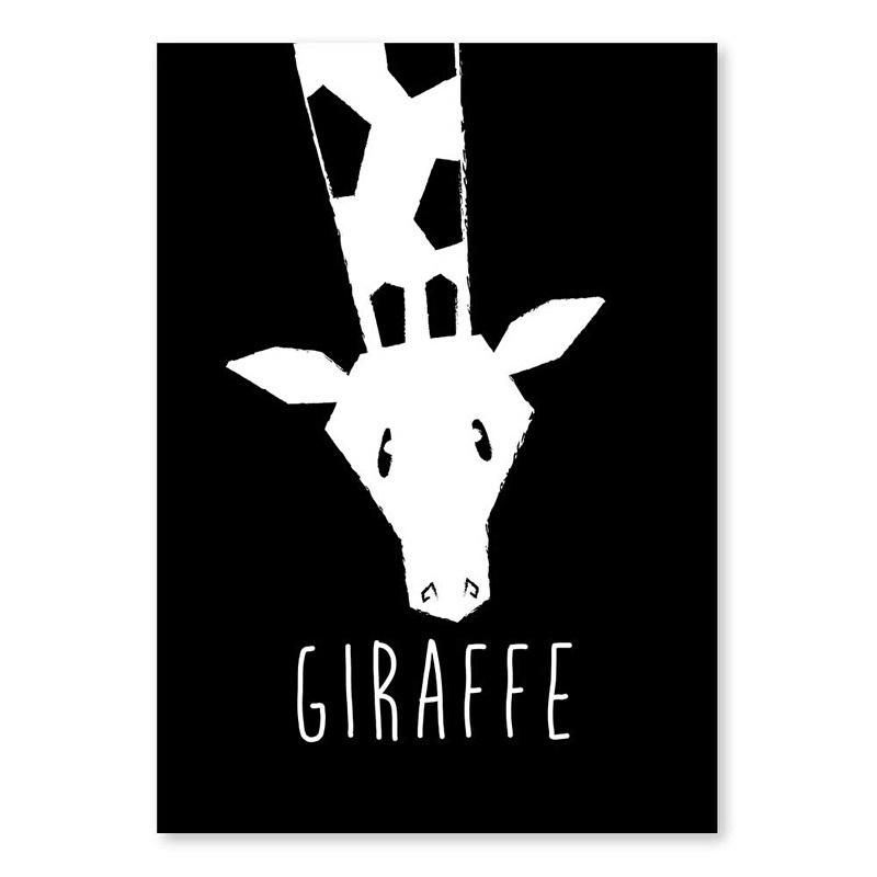 A6 Giraffe monochrome
