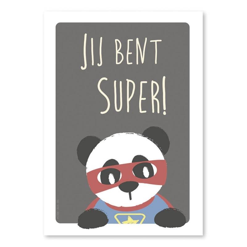 A4 Super Panda 'jij bent super'