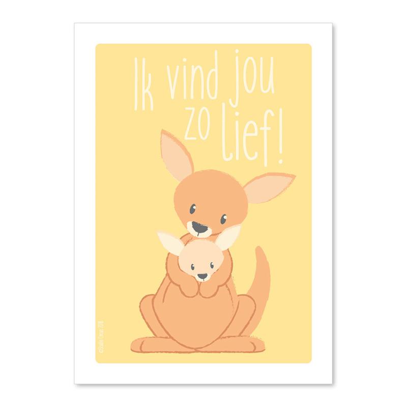A6 Kangaroe Ik vind je lief!