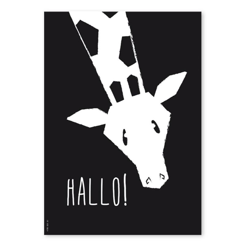 A4 Giraffe 'Hallo'