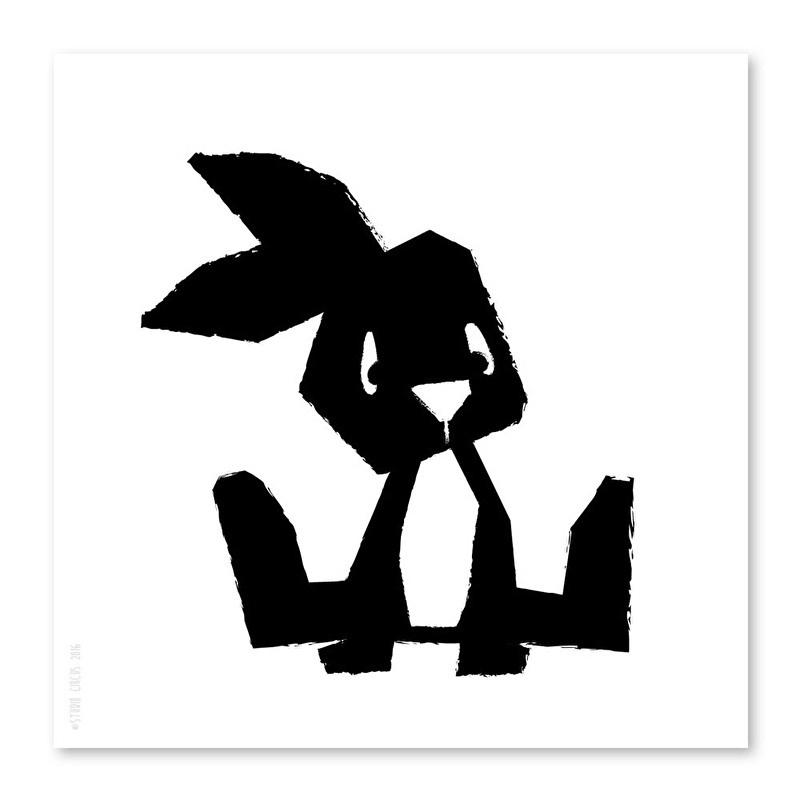 21x21 Rabbit monochrome