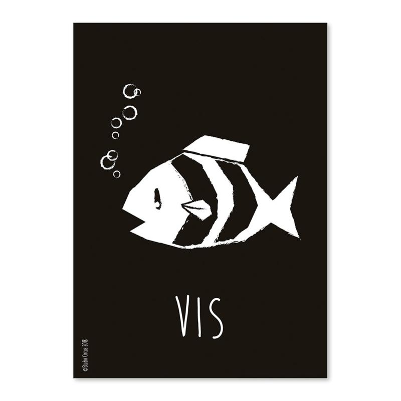 A6 Vis zwart/wit