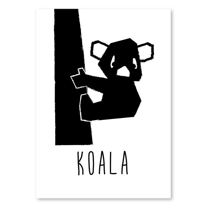 A6 Koala monochrome