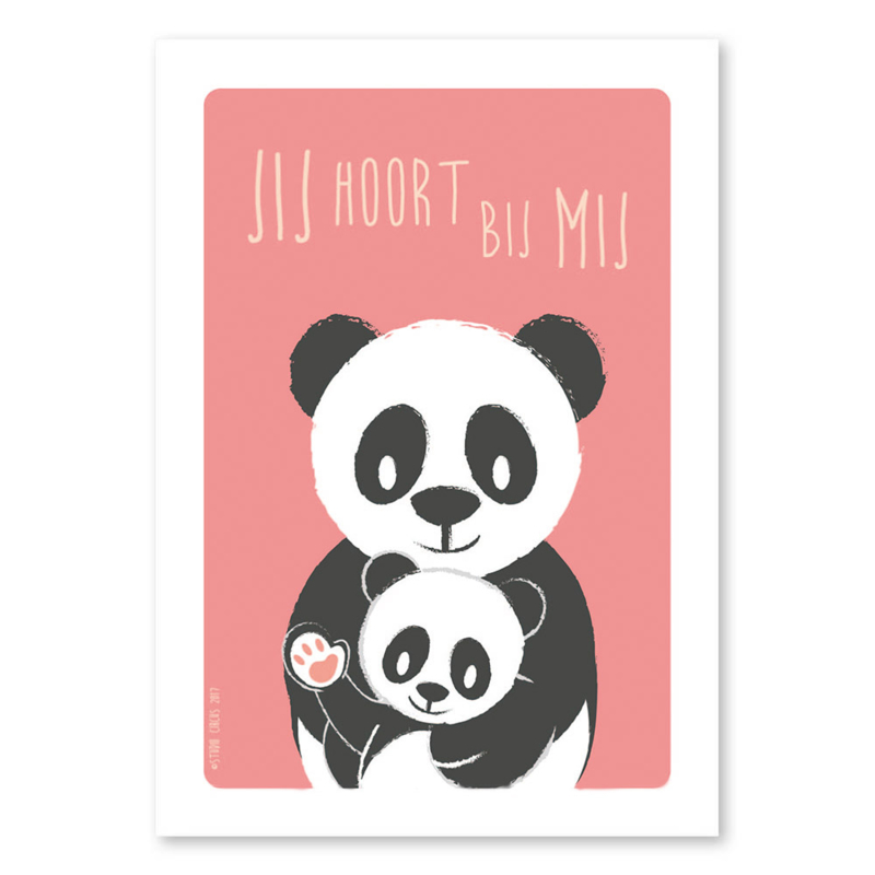A4 Panda familie 'jij hoort bij mij'
