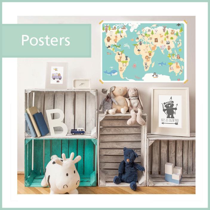 grote poster educatief leerzaam beestenboel wereldkaart pinterest