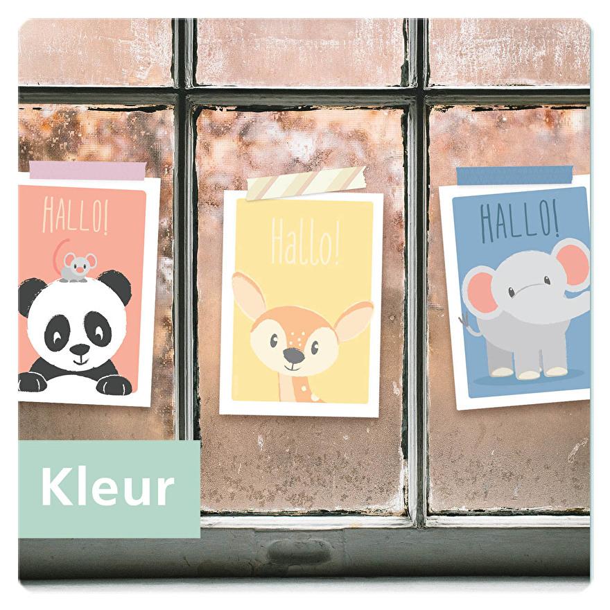 ik vind je lief dieren kaart poster ophangen versturen inlijsten tape
