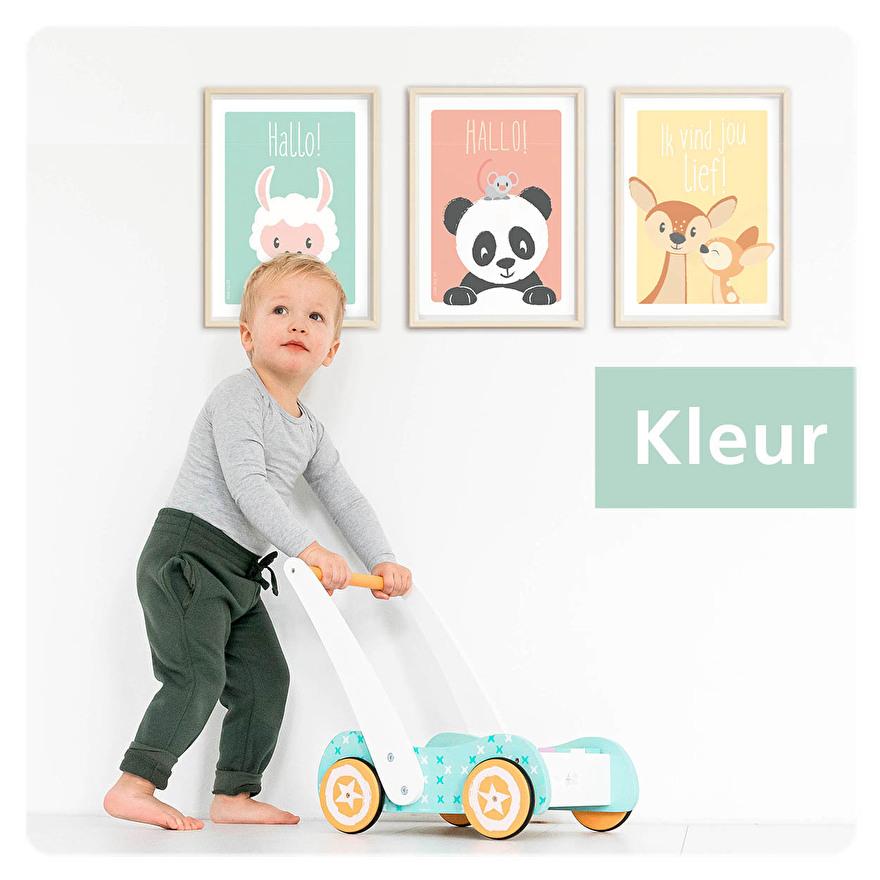 vierkante posters kaarten decoratie kinderkamer muur dieren