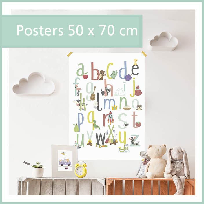 grote poster dieren abc ark noach luchtballon jungle