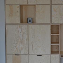 Multiplex kast | wandkast met vakken