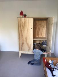 Kinderkledingkast | Kledingkast kinderkamer 'Hoera'