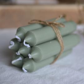 Kleine kaarsen / korte kaarsjes groen