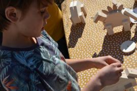 Dino hout Stegosaurus