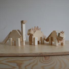 Knutselpakket houten dino's