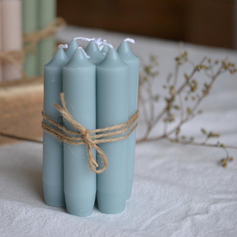 Kleine kaarsen / korte kaarsjes blauw