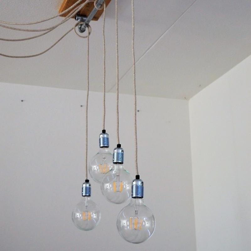 Lamp Allicht (hout met staal)