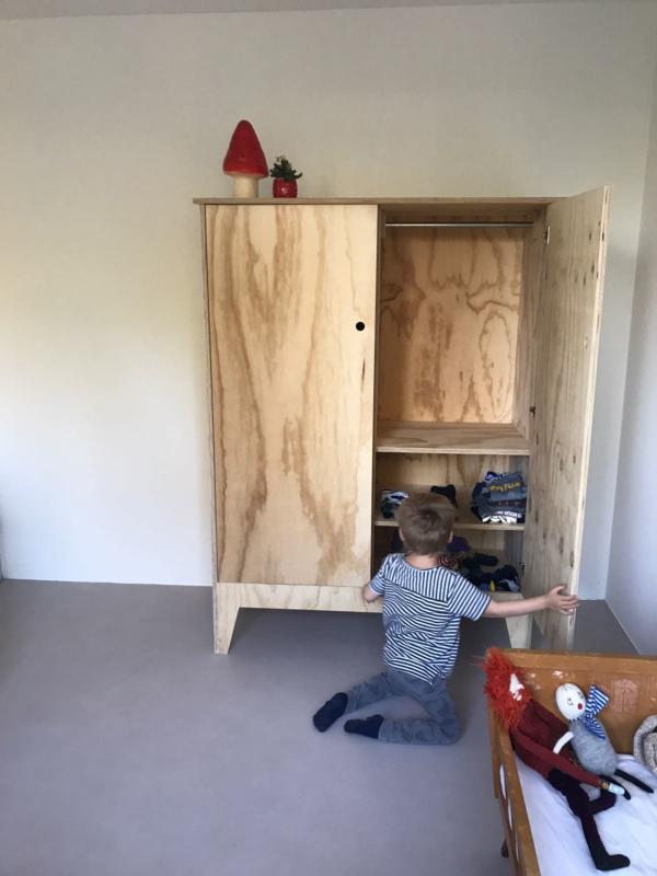 Kinderkledingkast Bekijk Kledingkast Hoera Lakken Van