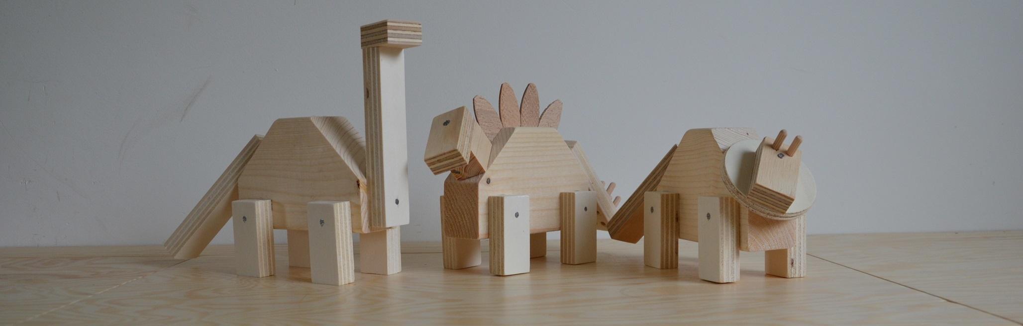 dino feestje kinderfeestje houten dino's