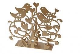 Servethouder Love Birds metallic