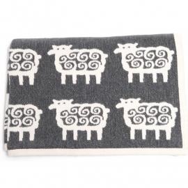 Plaid Mouton noir coton