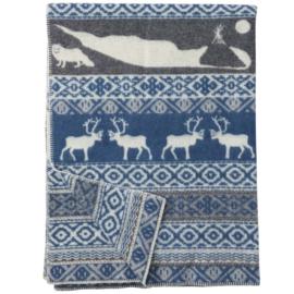 Woondeken eco wol Sarek blue