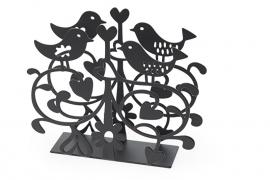 Servethouder Love Birds zwart