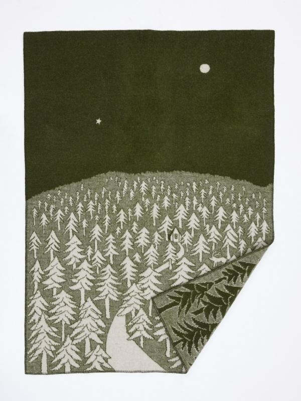 Woondeken wol House in the Forest groen