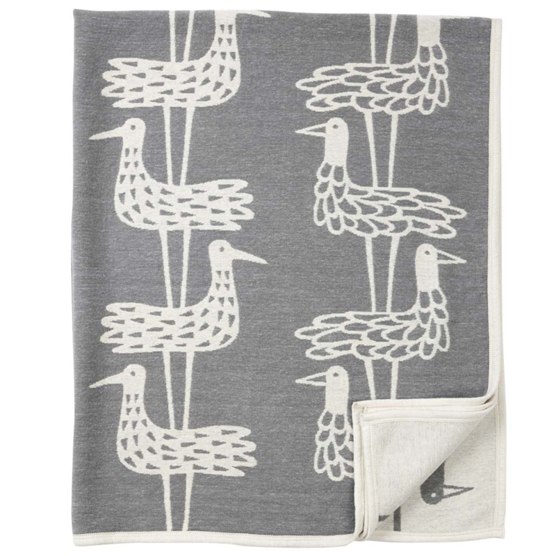 Klippan plaid katoen Shorebirds grey