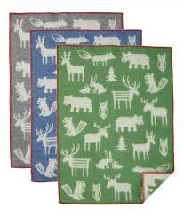 Klippan wiegdeken wol Forest groen 2423