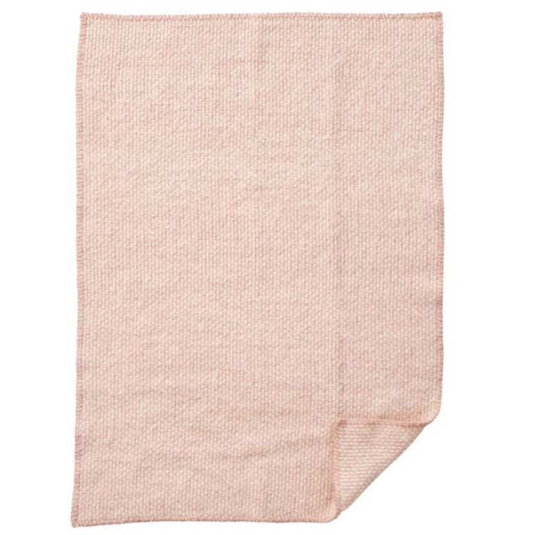 Klippan Ledikantdeken wol Domino roze