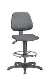 BIMOS Unitec 3 werkstoel model 9651 met zit stop wielen en voetenring