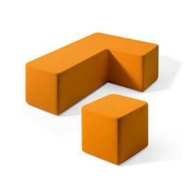 Lande Dots gestofferde poef kubusvormen
