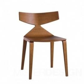 Arper Saya Chair stoel houten poten
