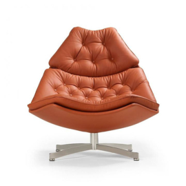 Artifort fauteuil F587 hoog model draaibaar met kruisvoet
