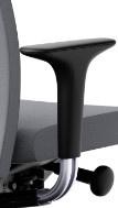 HAG H05 -Creed armleggers losse set voor H05 of CREED bureaustoel